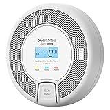 X-Sense CO Melder mit Digitalanzeige, Kohlenmonoxidmelder, akkurater Sensor mit 10-Jahren Lebensdauer, Batterie austauschbar, BSI Zertifiziert nach EN 50291, CO03D (1 Stück)