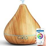 GX·Diffuser WiFi Diffusor für ätherische Öle, kompatibel mit Alexa und Google Home, 300 ml Aroma-Luftbefeuchter Cool Mist Zerstäuber für Luftreinigung und entspannende Atmosphäre