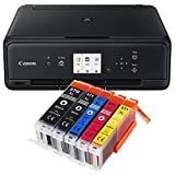 Canon Pixma TS5050 TS-5050 Farbtintenstrahl-Multifunktionsgerät schwarz + 5er Set IC-Office XL Tintenpatronen 570XL 571XL